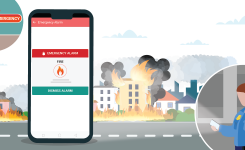How to send emergency alarm application/software for housing and apartment societies?